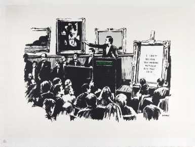 Banksy, 'Morons', 2006, Print, Screenprint in colours, Tate Ward Auctions