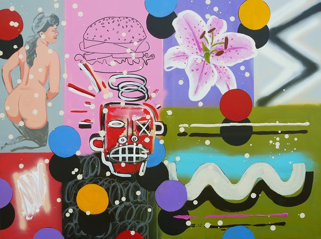 Frank Buffalo Hyde, 'Meta Painting - Red Head', 2017, Art Ventures Gallery