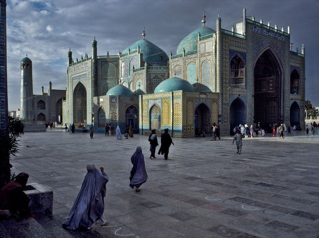 , 'SALAT AT BLUE MOSQUE IN MAZAR-E-SHARIF, 1992,' 1992, Beetles + Huxley