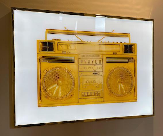 , 'Gold Boombox Lightbox,' 2019, Art Angels