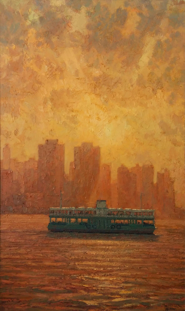, 'Hong Kong Ferry at Sunset,' 2018, Tanya Baxter Contemporary