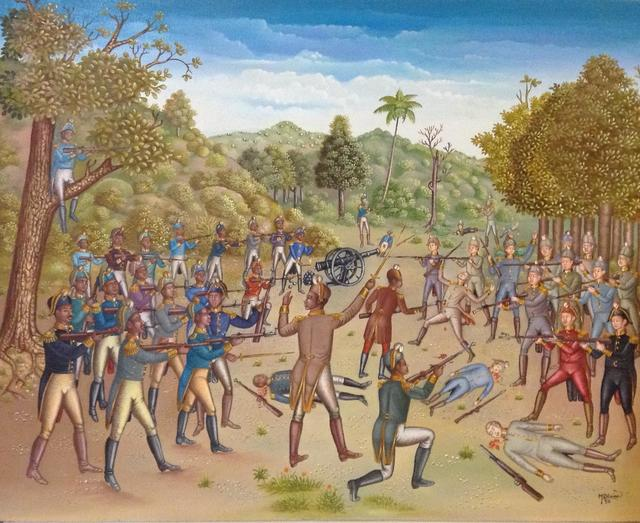 , 'The Battle Between the Haitians and the English 1789,' 1993, Myriam Nader Haitian Art Gallery