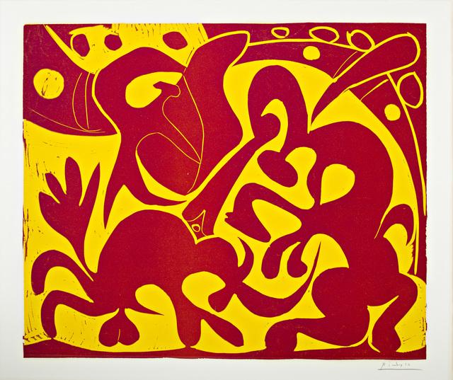 ", '""Pique (Rouge et Jaune)"",' 1959, Surovek Gallery"