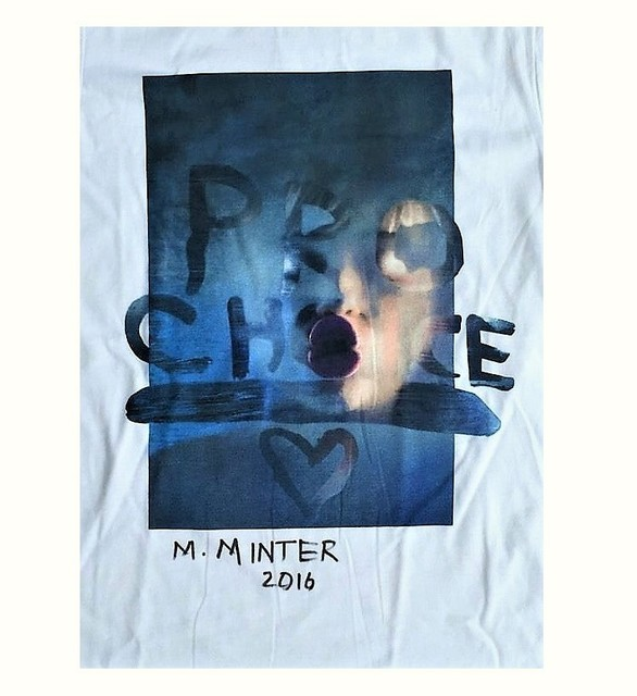 "Marilyn Minter, '""Pro-Choice Miley"", Signed, Limited Edition, Marc Jacobs T-Shirt, Benefit Planned Parenthood', 2016, VINCE fine arts/ephemera"