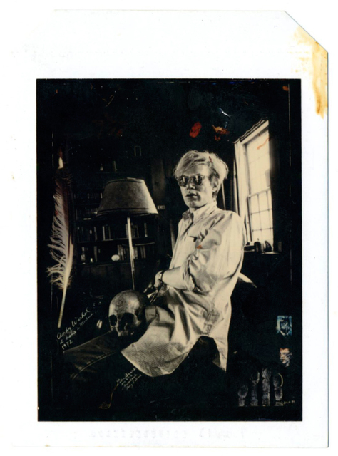 Peter Beard, 'Andy Warhol at Home with Skull 1972', 1990, Photography, Polaroid 3 photograph with blood, Woodward Gallery
