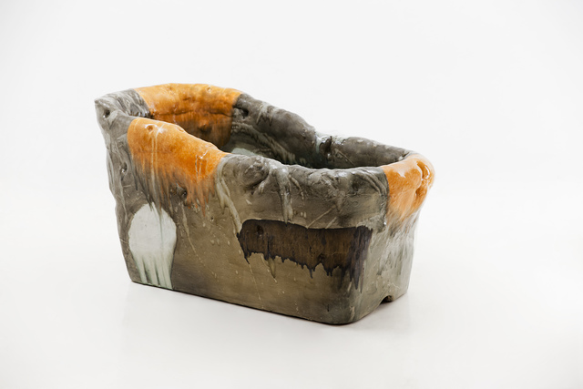, 'Sculptural Soaking Tub in Glazed Ceramic with Footstool,' 2016, R & Company