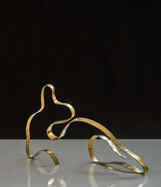 ", 'Sculpture in Brass by Jacques Jarrige ""Angel #9"",' 2017, Valerie Goodman Gallery"
