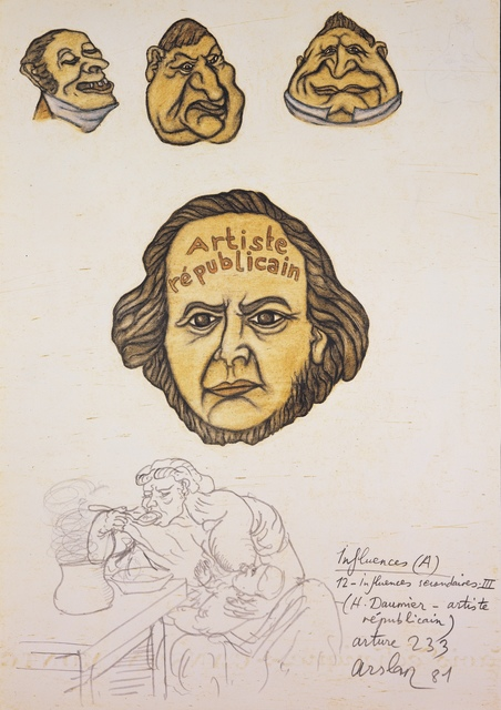 Yuksel Arslan, 'Arture 233, H. Daumier – Artiste républicain, Influences', 1981, Galerist