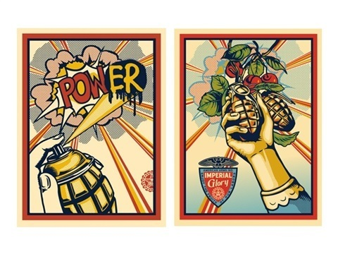 Shepard Fairey, 'Imperial POWer + Imperial Glory ', 2013, Print, Offset Lithograph on Recycled Archival paper, End to End Gallery
