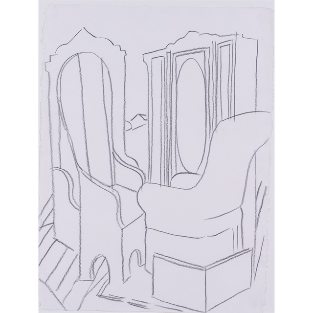 Andy Warhol, 'Furniture in the Valley (after de Chirico)', 1982, Drawing, Collage or other Work on Paper, Graphite on paper, PIASA