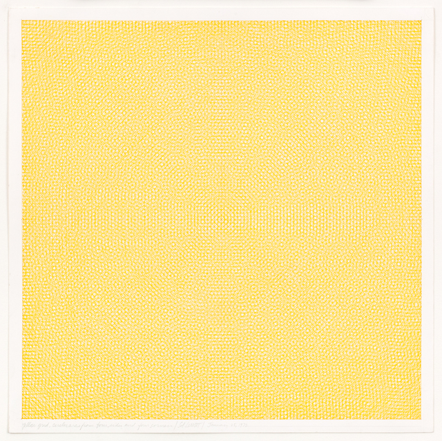 , 'Yellow Grid, Circles and Arcs From Four Sides and Four Corners,' 1972, Vito Schnabel