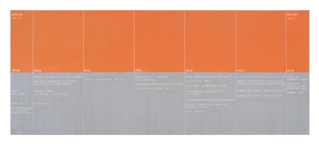 , 'Arrive/Depart,' 2016, Postmasters Gallery