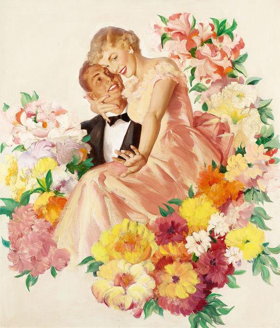 Haddon Sundblom, 'Cashmere Bouquet Soap Advertisement Illustration', ca. 1949, The Illustrated Gallery