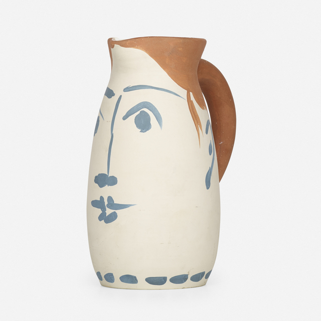 Pablo Picasso, 'Visage tankard', 1959, Textile Arts, Earthenware with engobe decoration, glazed interior, Rago/Wright