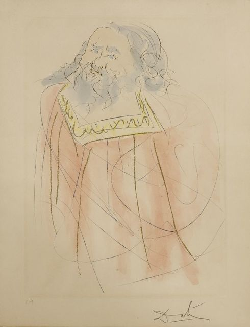 Salvador Dalí, 'Jeremiah', 1975, Print, Etching with stencil hand-colouring, Sworders