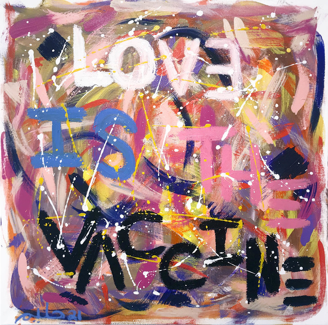 Halim Flowers, 'Love Is The Vaccine', 2021, Painting, Acrylic and oil sticks on canvas, DTR Modern Galleries