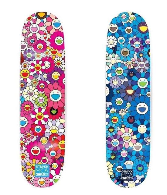 Takashi Murakami, 'Takashi Murakami Flowers Skateboard Decks (set of 2)', 2017, Lot 180