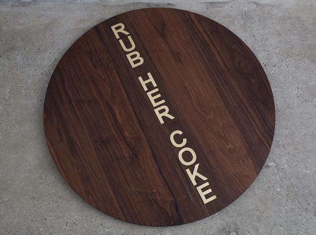 , 'RUB HER COKE,' 2015, MIER GALLERY