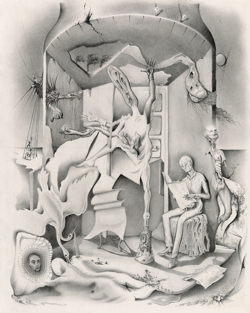 , 'Untitled [Morphing Figures Inside a Tree-trunk Structure],' ca. 1945, Francis M. Naumann Fine Art
