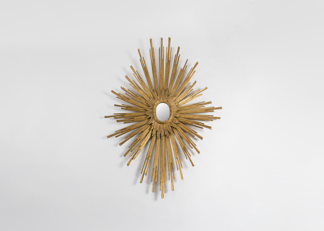 , 'Exceptional and One of a Kind Sunburst Wall Mirror,' ca. 1954, Maison Gerard