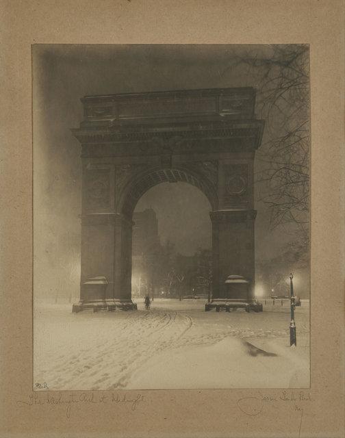 Jessie Tarbox Beals, 'The Washington Arch at Midnight', circa 1910, Doyle