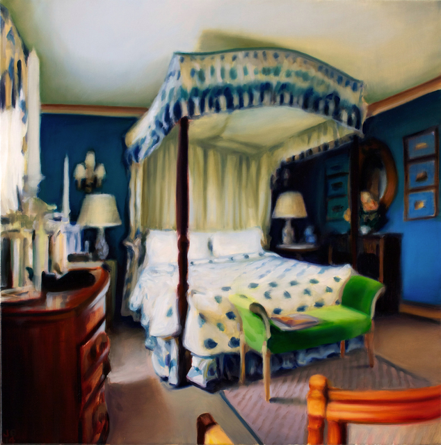 , 'Blue Four Poster,' 2014, Seager Gray Gallery