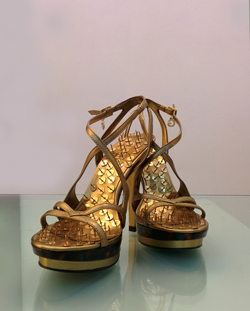 , 'Golden Shoes, Guess golden shoes and gold pins.,' , Galleria Massimo Minini