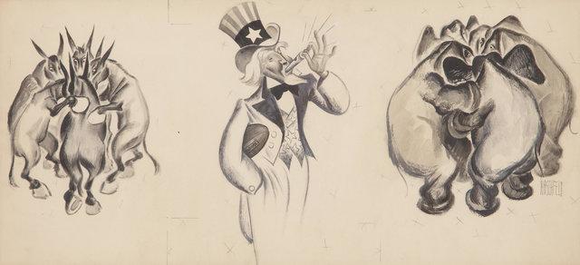 Al Hirschfeld, 'The Huddle', ca. 1930, Heritage Auctions