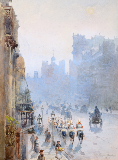 , 'ST JAMES'S STREET LOOKING TOWARDS ST JAMES'S PALACE,' 1889, Chris Beetles Gallery