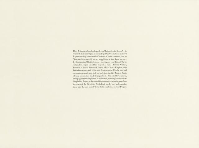 , 'Thomas Pynchon, Mason & Dixon (345),' 2017, Gallery Joe