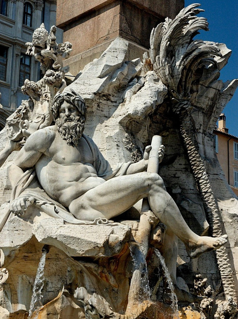 Gian Lorenzo Bernini, 'Fountain of the Four Rivers, the Ganges (Asia),' 1648-1651, Art History 101