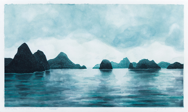 April Gornik, 'Halang Bay', 2004, Drawing, Collage or other Work on Paper, Cotton base sheet with linen pulp painting and etching, Dieu Donné