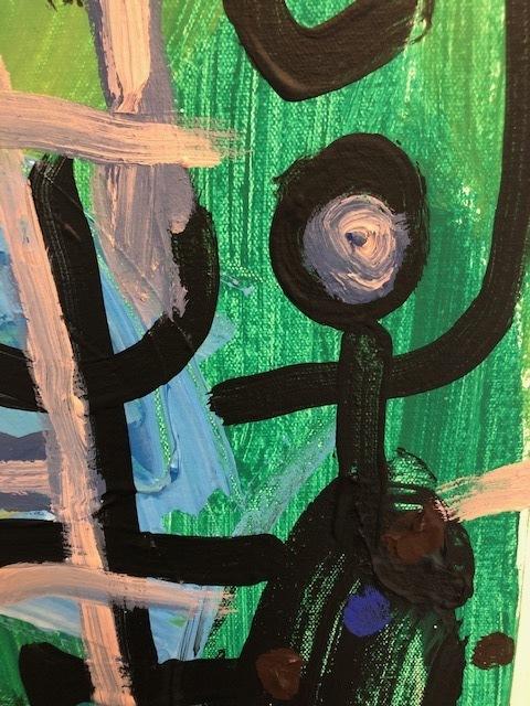 Victor Ekpuk, 'Untitled (Composition)', 2021, Painting, Acrylic on canvas, Morton Fine Art