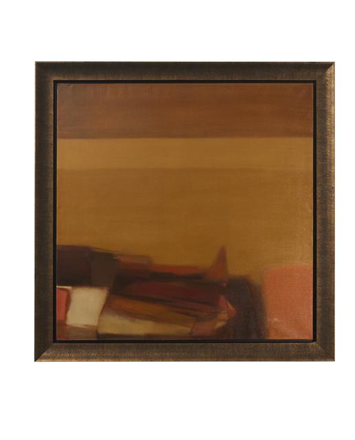 "Helen Khal, 'Untitled (""Ochre over Brown"")', 1968, Barjeel Art Foundation"