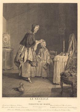 Jacques-Philippe Le Bas after Jean Siméon Chardin, 'Le neglige, ou la toilette du matin', 1741, National Gallery of Art, Washington, D.C.