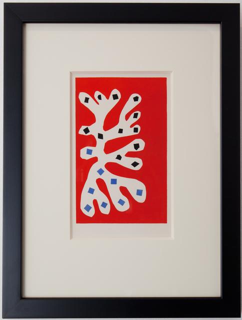 Henri Matisse, 'Algue blance sur fond rouge', 1953, Dellasposa