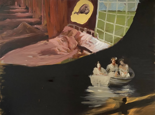 Noah Saterstrom, 'Dr. Smith and The Unknown Sense, Old Asylum, Jackson, Mississippi, 1925', 2020, Painting, Oil on Canvas, Conde Contemporary