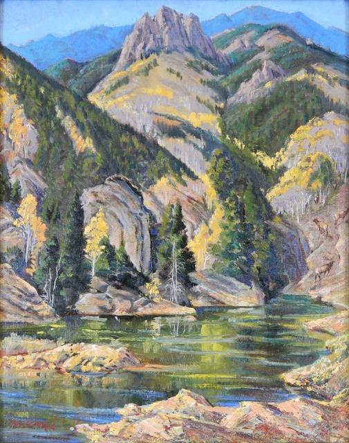 Ila McAfee, 'Mountain Jewel', 1959, Painting, Oil on boardOil on board, Addison Rowe Gallery