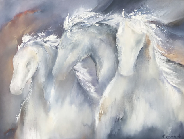 , 'White Horses,' 2018, Mirada Fine Art