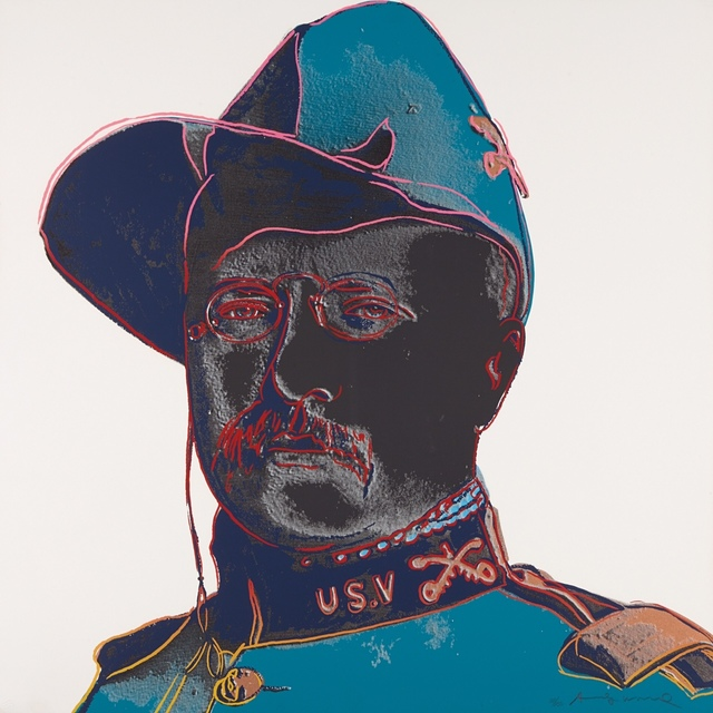 ", 'Teddy Roosevelt, from ""Cowboys and Indians"",' 1986, New Gallery of Modern Art"