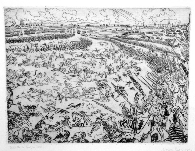 , 'Bataille des Eperons d'Or (Battle of the Golden Spurs),' 1895, Harris Schrank Fine Prints