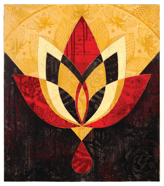 Shepard Fairey (OBEY), 'Bleeding Lotus, Version 3', 2018, Galerie Ernst Hilger