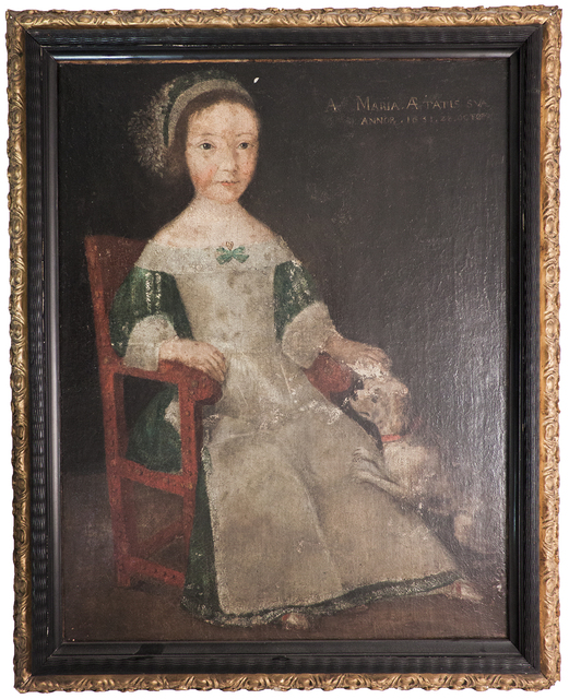 Unknown Flemish, 'Girl in Chair', 1594, ArtWise