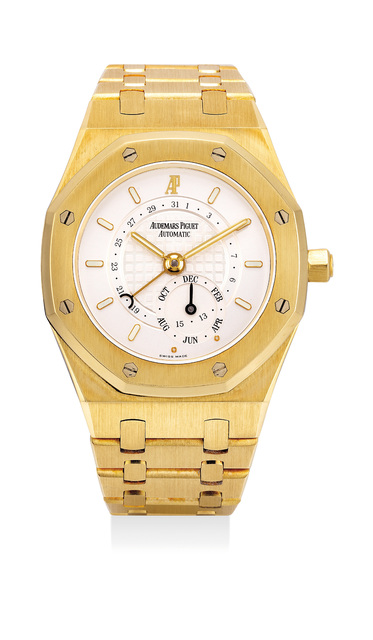 Audemars Piguet, 'A rare and fine yellow gold annual calendar wristwatch with bracelet, guarantee and box', Circa 2004, Phillips