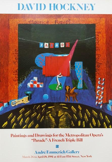 David Hockney, 'Set for Parade', 1980, Graves International Art