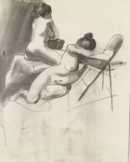 Thomas John Carlson, 'Nude 2', ca. 2018, Drawing, Collage or other Work on Paper, Charcoal on paper, Deep Space Gallery