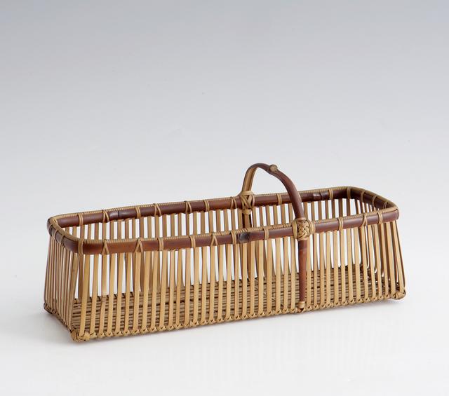 Yokota Hōsai, 'Rectangular Ikebana Flower Basket (T-1567)', Showa era (1926, 89), ca. 1950's, Design/Decorative Art, Bamboo, Thomsen Gallery