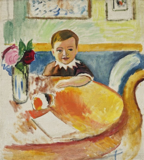 , 'Portrait of Walter Macke with Bouquet of Roses,' 1913, Galerie Thomas
