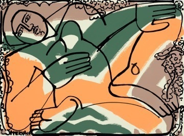 America Martin, 'Woman in Orange & Green', 2015, Wally Workman Gallery