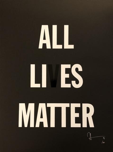 Hank Willis Thomas, 'All Li es Matter', 2019, Print, Screenprint on paper, Artsy x Forum Auctions